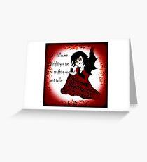 Anime Vampiress Greeting Card