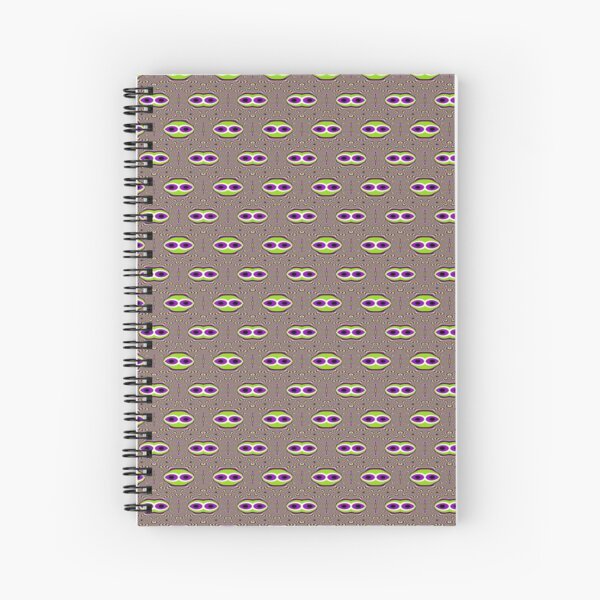 #Scrapbook, #design, #pattern, #repetition, abstract, illustration, square, color image, geometric shape, retro style Spiral Notebook