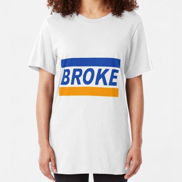Broke MasterCard Parody Logo Slim Fit T-Shirt