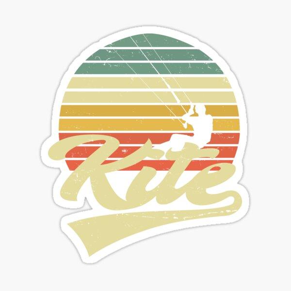 KITE Kitesurfing Kiting Kitesurfing Vintage Retro Kitesurfing - Gift Sticker