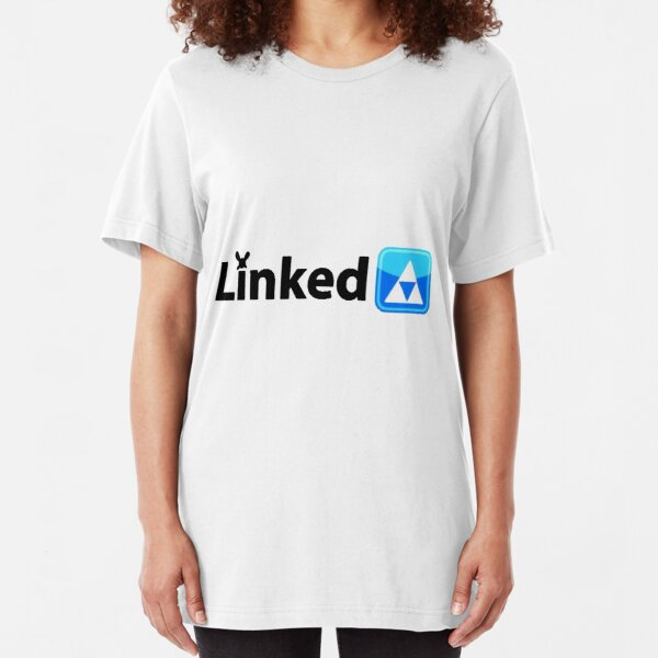 Zelda LinkedIN Parody Logo Slim Fit T-Shirt