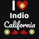 «Idea soleada del regalo de California Amo California CA EE. UU. Ciudad de Indio» de DogBoo