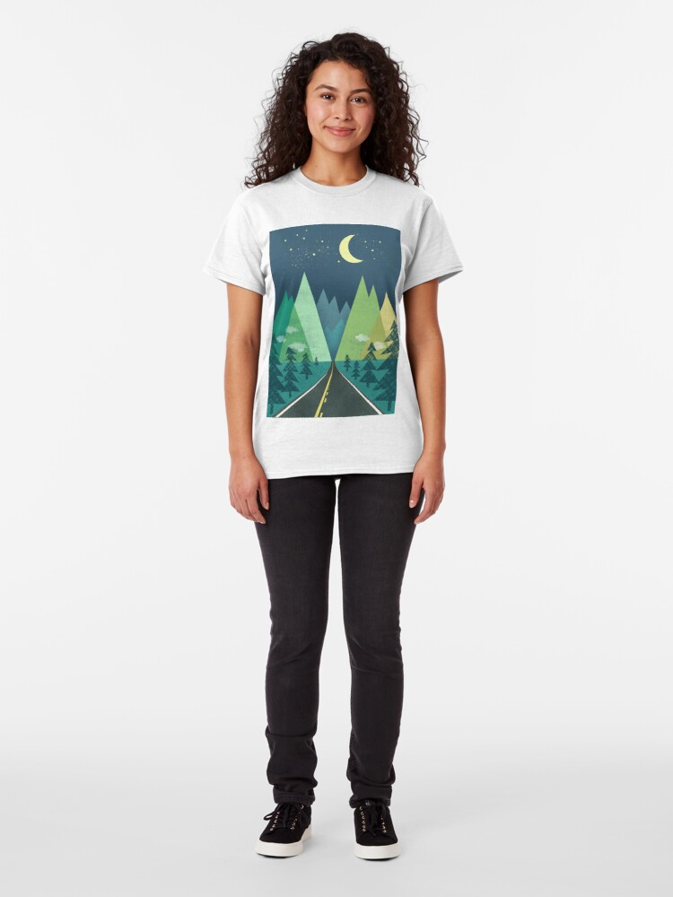 Alternate view of the Long Road at Night Classic T-Shirt