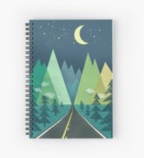 the Long Road at Night Spiral Notebook
