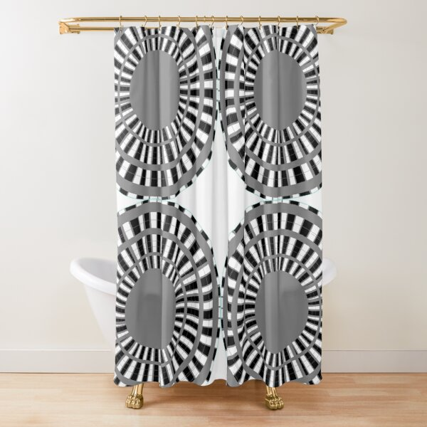 #Scrapbook, #design, #pattern, #repetition, abstract, illustration, square, color image, geometric shape, retro style Shower Curtain