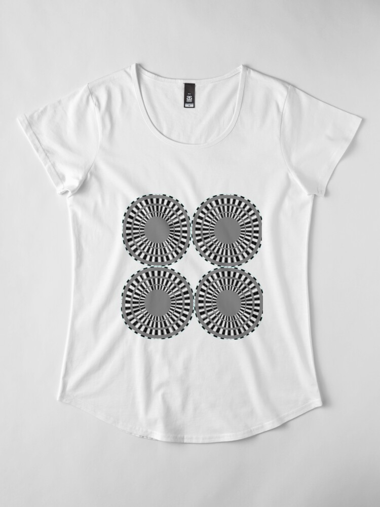 Alternate view of #Scrapbook, #design, #pattern, #repetition, abstract, illustration, square, color image, geometric shape, retro style Premium Scoop T-Shirt