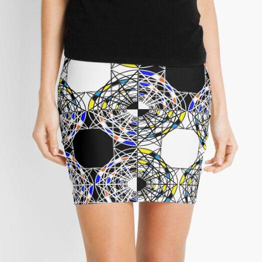 #Scrapbook, #design, #pattern, #repetition, abstract, illustration, square, color image, geometric shape, retro style Mini Skirt