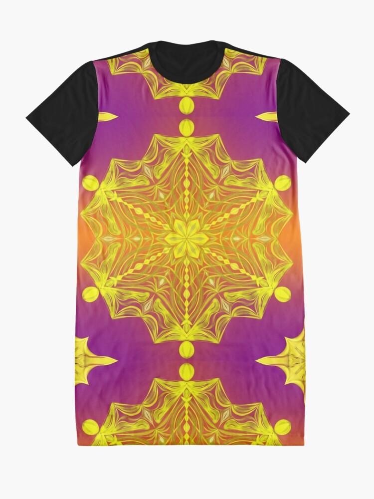 Alternate view of Snowflake Sunset Graphic T-Shirt Dress