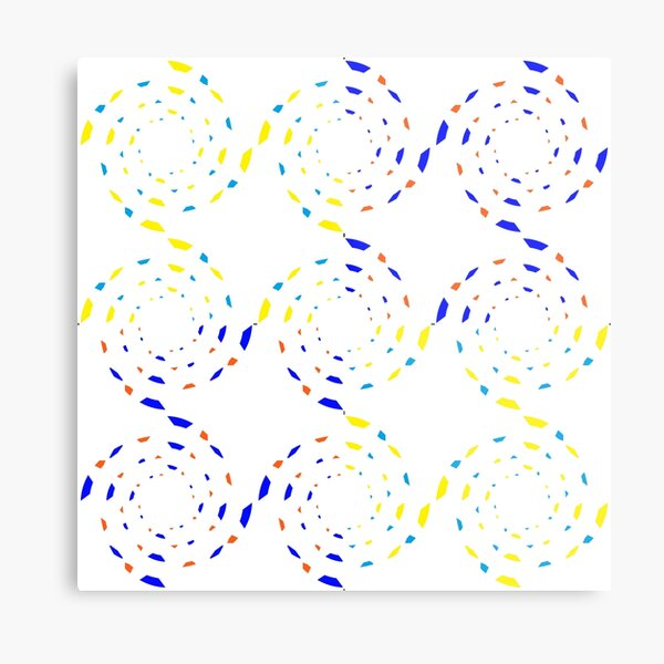 #Scrapbook, #design, #pattern, #repetition, abstract, illustration, square, color image, geometric shape, retro style Metal Print