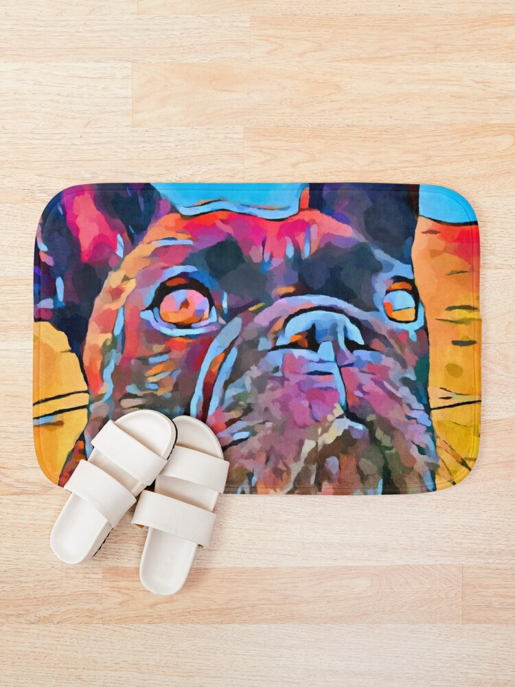 Alternate view of French Bulldog 6 Bath Mat