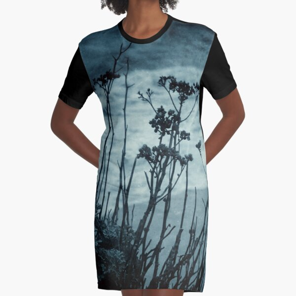 Midnight Dreams of the Sea Graphic T-Shirt Dress