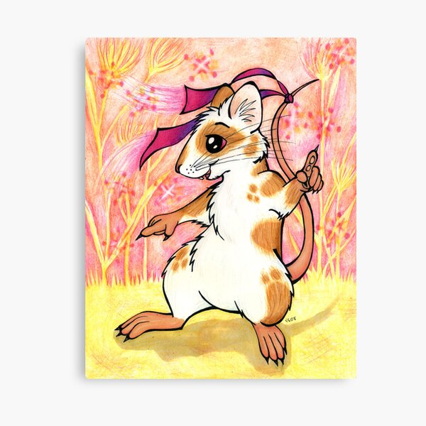 Boogie Mouse - Partying in the Field! Canvas Print