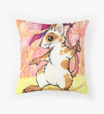 Boogie Mouse - Partying in the Field! Throw Pillow