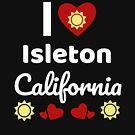 «Idea soleada del regalo de California Amo California CA EE. UU. Ciudad de Isleton» de DogBoo