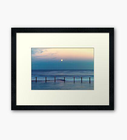 Moon Rising - Mahon Pool  Framed Print