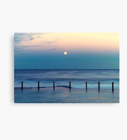 Moon Rising - Mahon Pool  Canvas Print