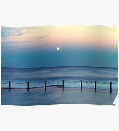 Moon Rising - Mahon Pool  Poster