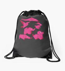 Origami Animals Drawstring Bag