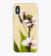 Vintage Flower Photograph on Aged Paper iPhone Case