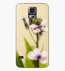 Vintage Flower Photograph on Aged Paper Case/Skin for Samsung Galaxy