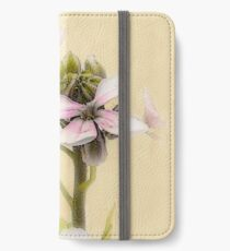Vintage Flower Photograph on Aged Paper iPhone Wallet/Case/Skin