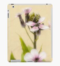 Vintage Flower Photograph on Aged Paper iPad Case/Skin