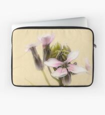 Vintage Flower Photograph on Aged Paper Laptop Sleeve