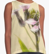 Vintage Flower Photograph on Aged Paper Sleeveless Top