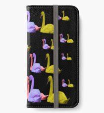 Farbige Multischwäne (2) iPhone Flip-Case/Hülle/Klebefolie