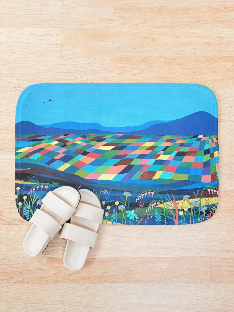 Alternate view of Mountains Beyond The Wild Flowers Bath Mat