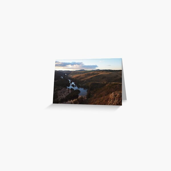 Nearly Dusk At The Murrumbidgee River. Greeting Card