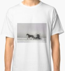 Romantic Buggy Ride In The Snow Classic T-Shirt