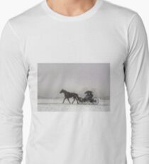 Romantic Buggy Ride In The Snow T-Shirt