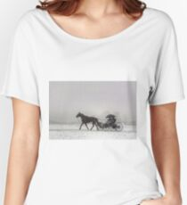 Romantic Buggy Ride In The Snow Women's Relaxed Fit T-Shirt