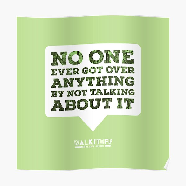 "WALKITOFF ""No one got over..."" Poster"