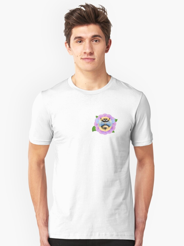 Alternate view of Bee and the flower Slim Fit T-Shirt