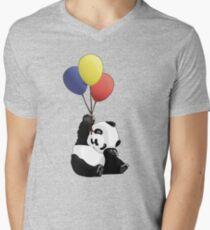 Panda's Happy Day Men's V-Neck T-Shirt