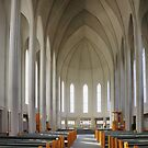 Inside Hallgrimskirkja by Roantrum