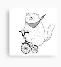 Bike cat Canvas Print