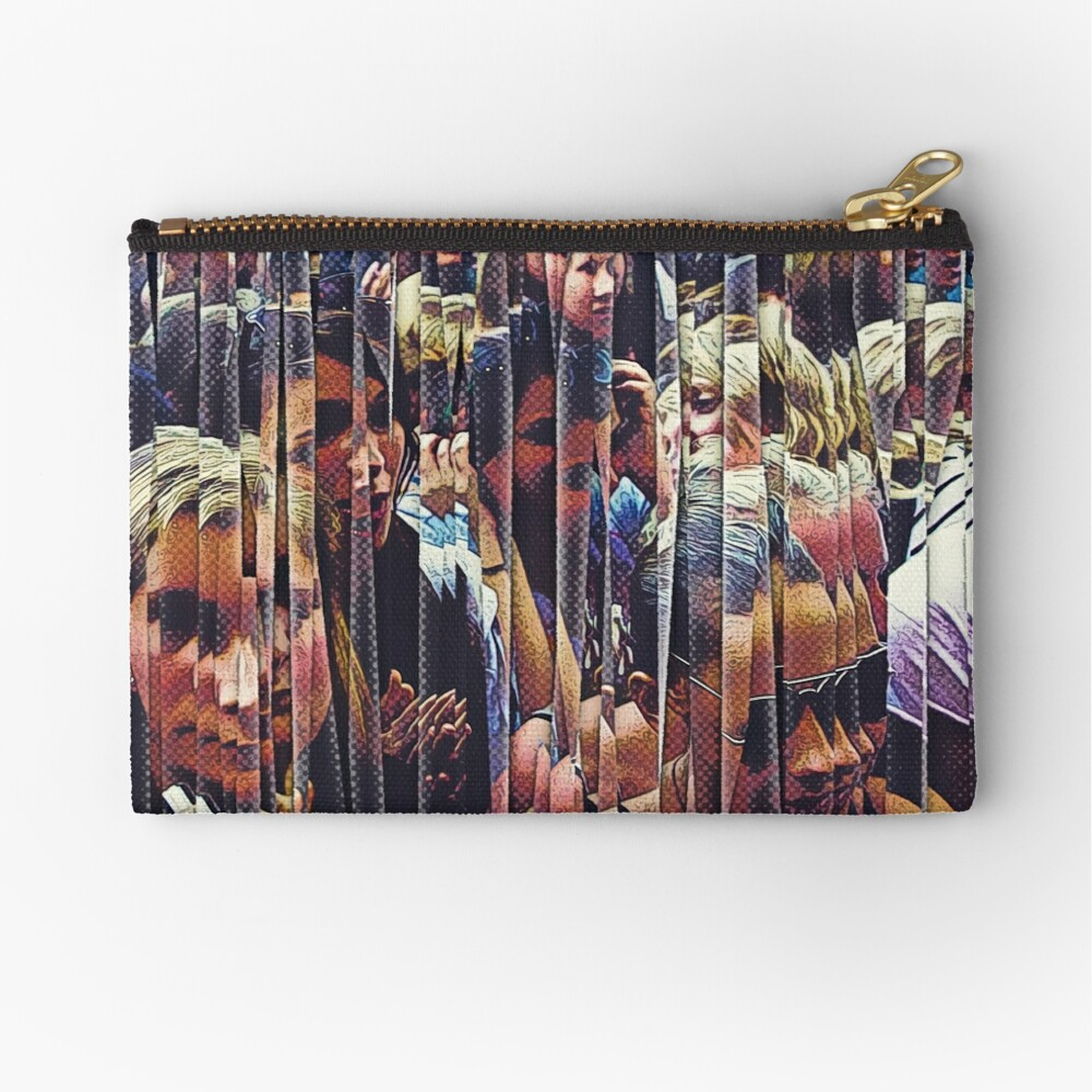 Concert Crowd Fans Zipper Pouch