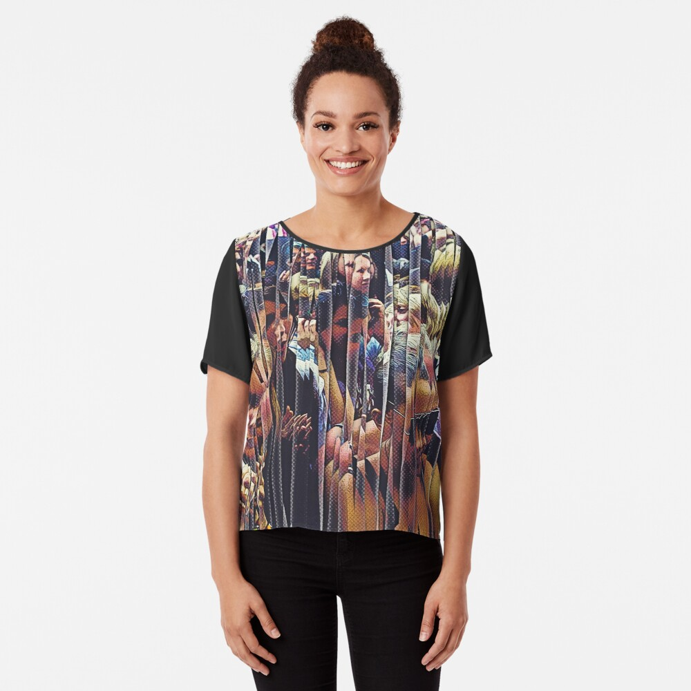 Concert Crowd Fans Chiffon Top
