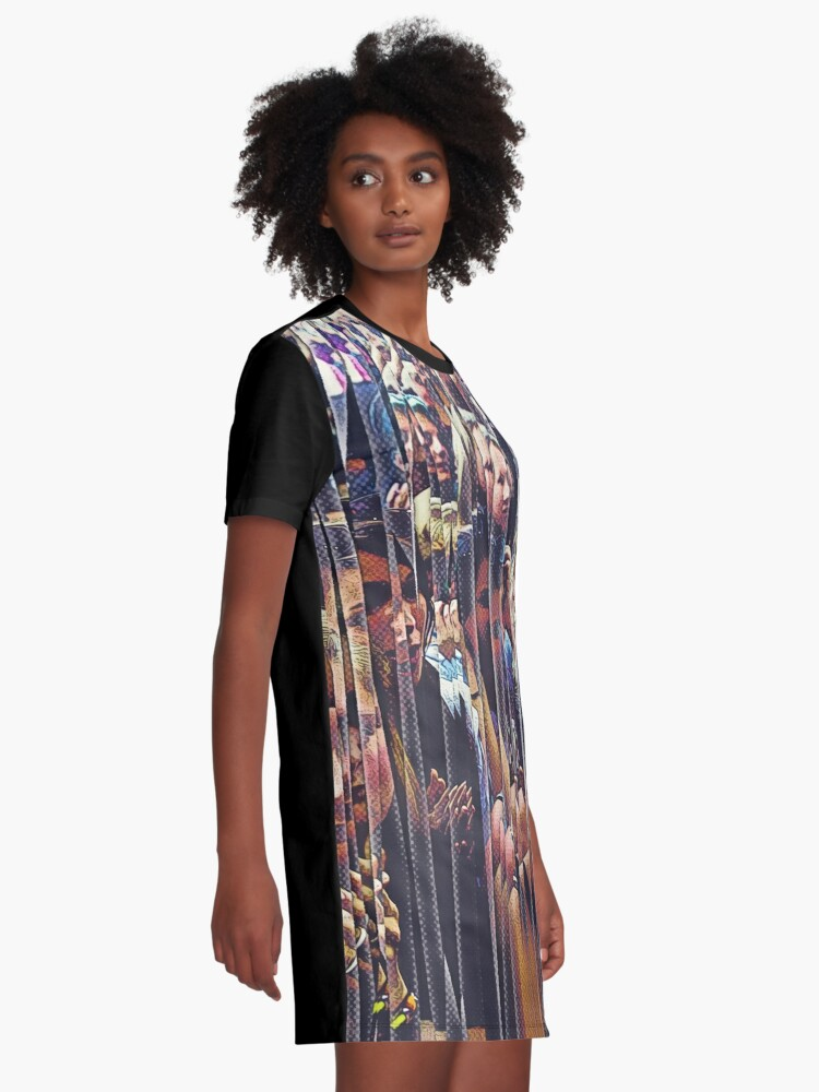 Alternate view of Concert Crowd Fans Graphic T-Shirt Dress