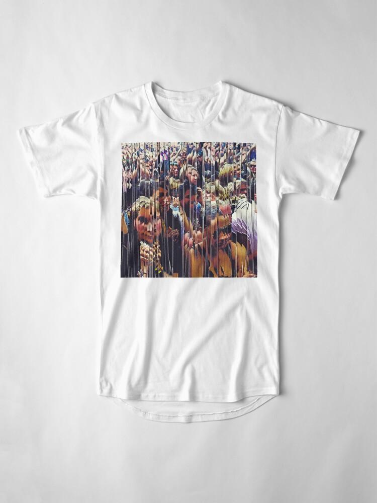 Alternate view of Concert Crowd Fans Long T-Shirt
