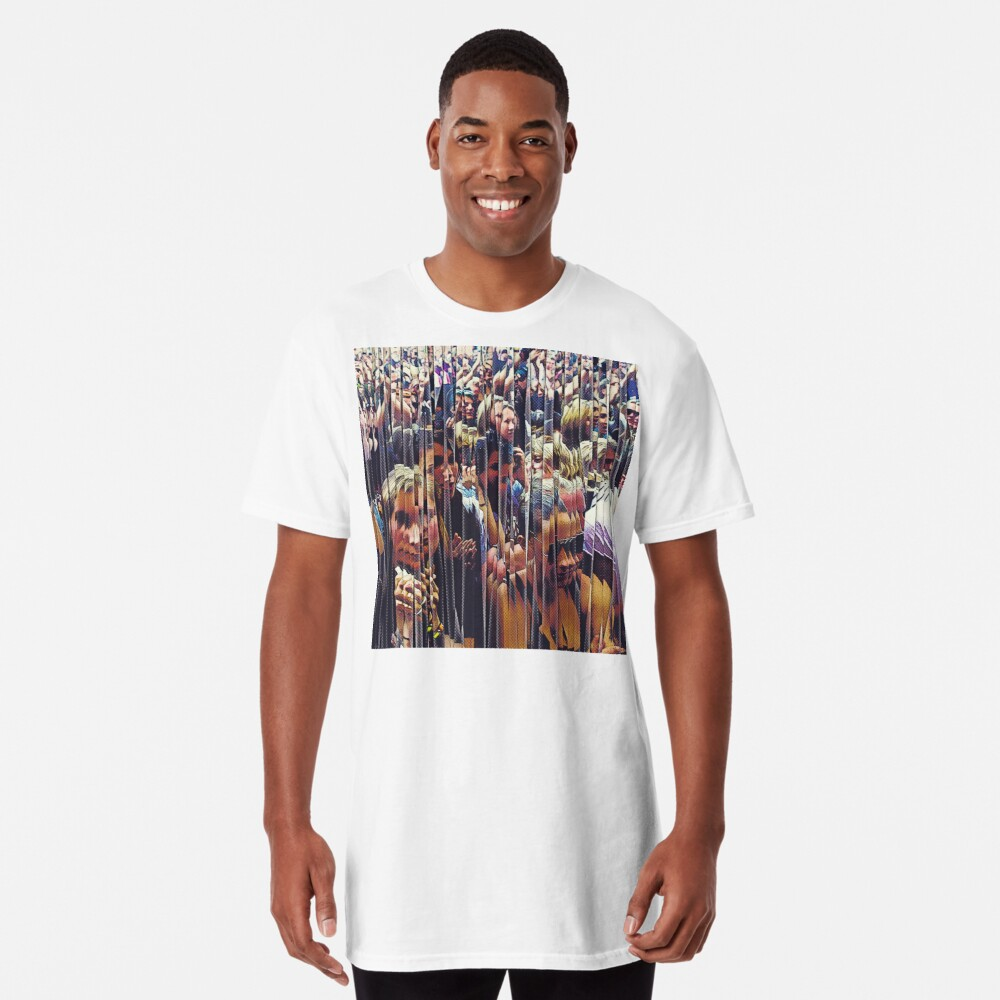 Concert Crowd Fans Long T-Shirt