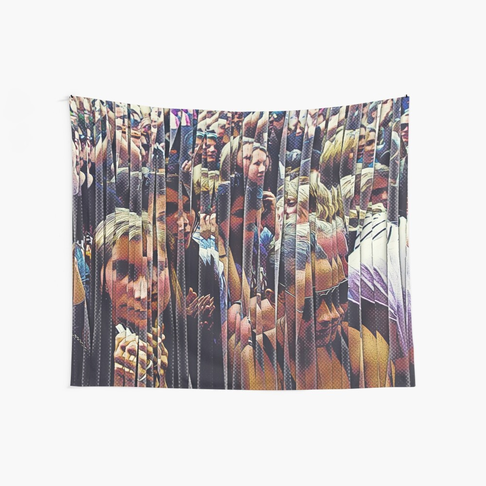 Concert Crowd Fans Wall Tapestry