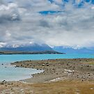 Impressive water colour and mountain landscape at the Tekapo Lake by Sergey Orlov