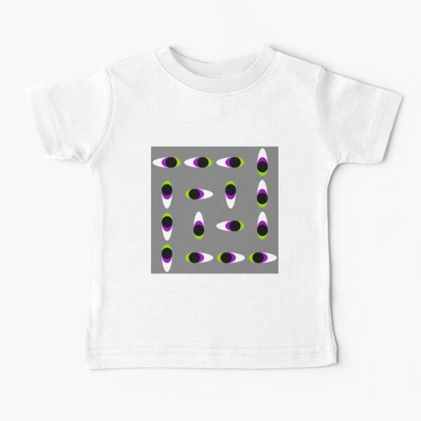 #Repetition, #illustration, #cute, #bright, design, art, fun, vortex, creativity, horizontal, gray, color image Baby T-Shirt