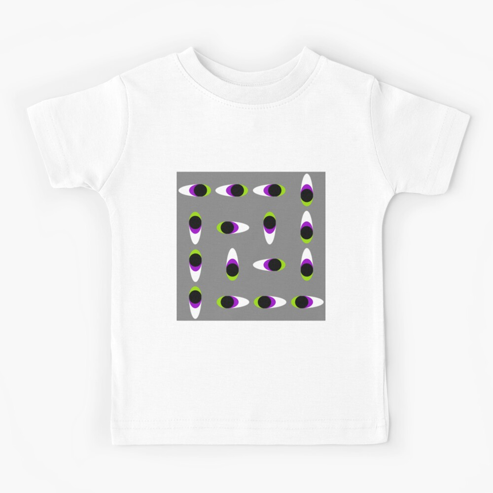 #Repetition, #illustration, #cute, #bright, design, art, fun, vortex, creativity, horizontal, gray, color image Kids T-Shirt