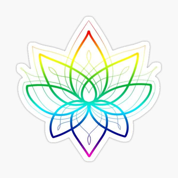Rainbow Lotus Sticker