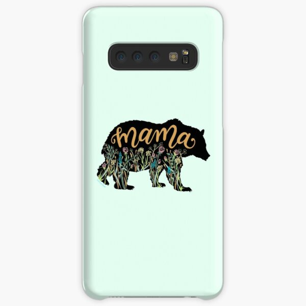 Mama Bear with Wildflowers Hand Lettered Illustration Samsung Galaxy Snap Case